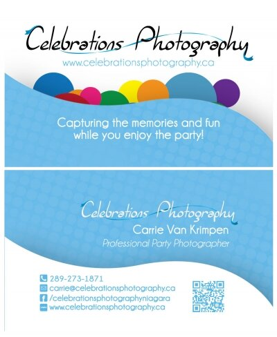 Celebration Photography Business Card