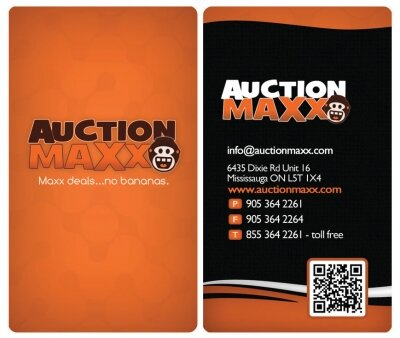 Auctionmaxx Business Card