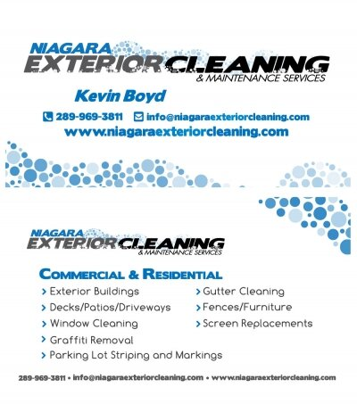 Niagara Exterior Cleaning Business Card